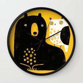 BEAR & OWL Wall Clock