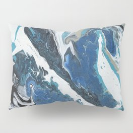 Oceanic 2 of 2 series - Fluid Acrylic Painting Print Pillow Sham
