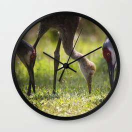 Family Feast Wall Clock