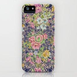 Floral Mandala Bohemian Garden Pink iPhone Case