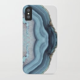 Light Blue Agate iPhone Case