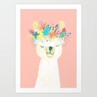 Llama Goddess Art Print