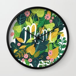 Floral Mom Wall Clock