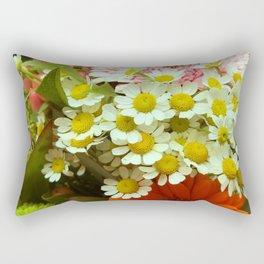 Colorful Floral: Daisies and Mums Rectangular Pillow