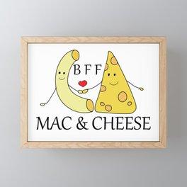 Mac & Cheese Best Friends Forever Framed Mini Art Print