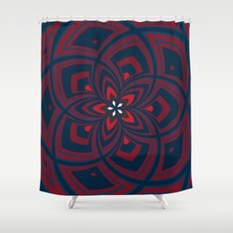 Spiral Rose Pattern C 1/4 Shower Curtain