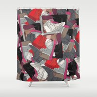 lv Shower Curtains featuring YZY x LV  by RaymondDesignz