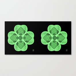 4 Leaf Clover - Stereogram Canvas Print