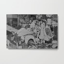 voiture Metal Print
