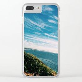 Blue skies, Blue oceans. Clear iPhone Case