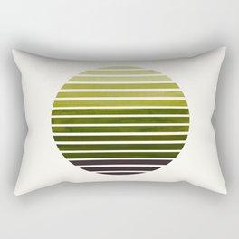 Olive Green Mid Century Modern Minimalist Scandinavian Colorful Stripes Geometric Pattern Round Circ Rectangular Pillow