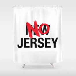 New Jersey, No Jersey Cartoon Flag Shower Curtain