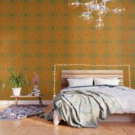 Kaleidoscope of Bold Orange Gazanias  Wallpaper