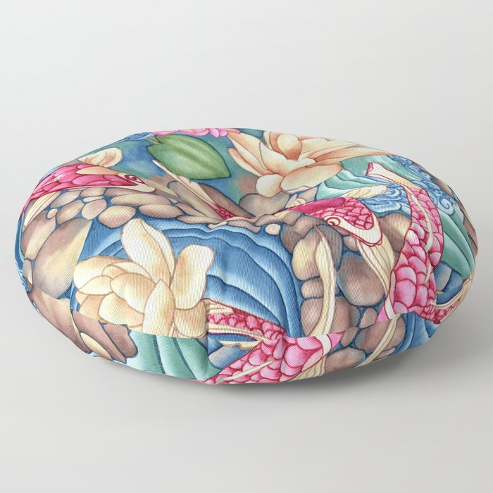 Koi Pond Floor Pillow