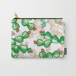 cactus with a red flowers Carry-All Pouch