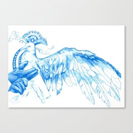 Like Soaring Through the Heavens in Blue Canvas Print
