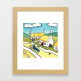 The West of Ireland - Coming home from Mass Framed Art Print