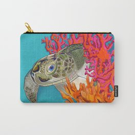 Sea turtle in Coral Carry-All Pouch