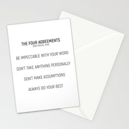 The Four Agreements #minimalism #shortversion Stationery Cards