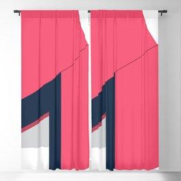 Letters M - geometric Blackout Curtain
