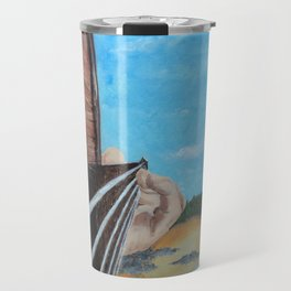 guitar at the beach Travel Mug