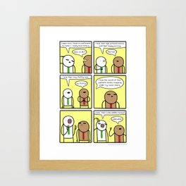 Antics #310 - kitten appreciation station Framed Art Print