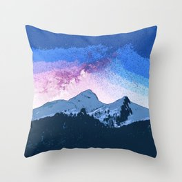 Snow Mountain Beautiful Sky Throw Pillow