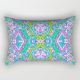 labyrinth simplified.  Rectangular Pillow