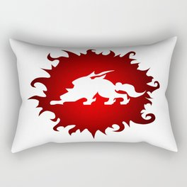 Amaterasu Logo- White Rectangular Pillow