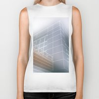 architect Biker Tanks featuring Minimalist architect drawing by Solar Designs