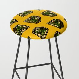 Terrarium Pattern in Yellow Bar Stool