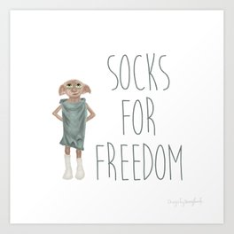 Socks for Freedom Art Print