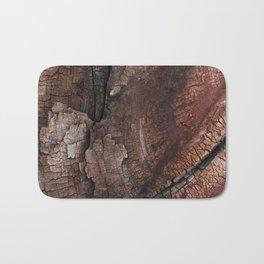 burned wood texture Bath Mat