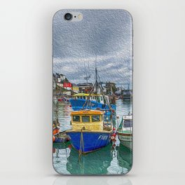 Boats in Mevagissey Harbour. iPhone Skin