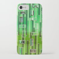 green pattern iPhone & iPod Cases featuring Green Pattern by Maria Eugenia Espino