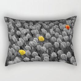 Tulips [Colour on Black and White] Rectangular Pillow
