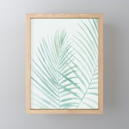 Cool Minty Tropics Framed Mini Art Print