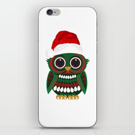 Christmas Owl iPhone Skin
