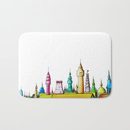 fabulous city painted Bath Mat