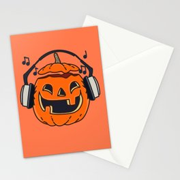 Halloween music Stationery Cards
