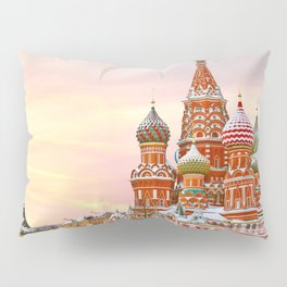 Snowy St. Basil's Cathedral Pillow Sham