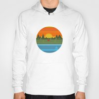 camping Hoodies featuring Camping by Becky Gibson
