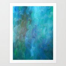 Braided Blues Art Print