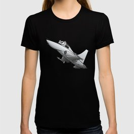 Twinjet Supersonic Aircraft Cartoon T-shirt