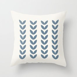 Leaf Pattern Pastel Blue - Scandinavian Throw Pillow