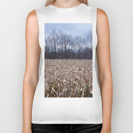 Field of Corn left Behind Biker Tank