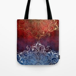 Mandala - Fire & Ice Tote Bag