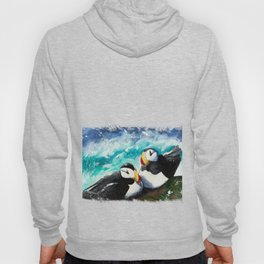 Puffins - Always together - by LiliFlore Hoody