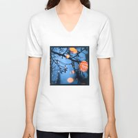 fireflies V-neck T-shirts featuring Fireflies by Den Brooks