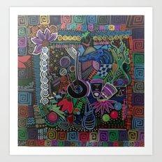 Cuadrados Art Print
